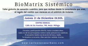 TALLER GRATUITO PRESENCIAL: Recibiendo el solsticio de invierno. @ CENTRO ESENCIA | Nerja | Andalucía | España
